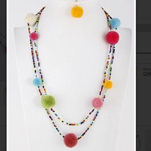Jewelry - Long Pom Pom necklace